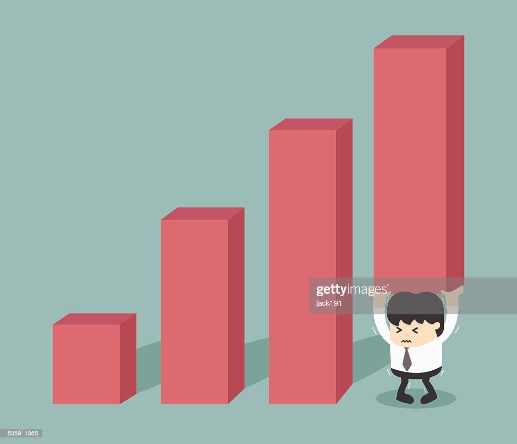 Crescimento dos encargos financeiros : Arte vetorial