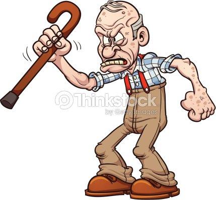 Le contentement : Meilleur moyen pour arrêtez de se plaindre et de retrouvrer le bonheur ! Grumpy-old-man-vector-id164510786?s=170667a&w=1007