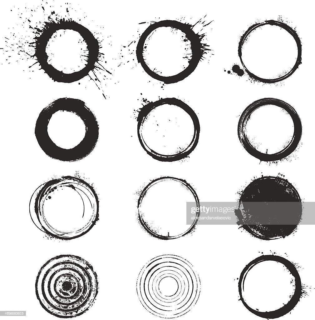 of vector grunge circle - photo #3