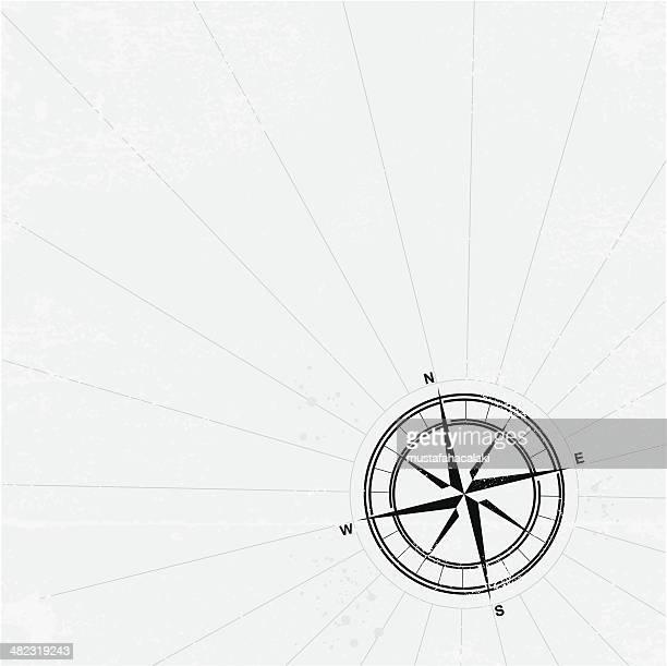 Grunge compass background
