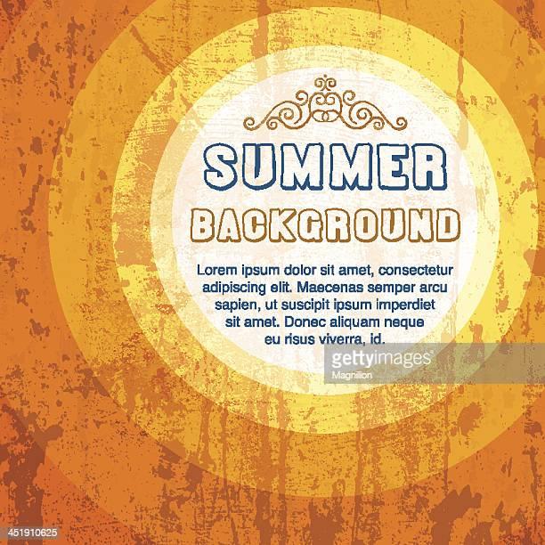 Grunge orange summer background template