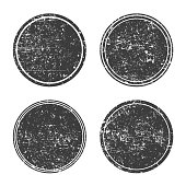 Grunge round black frames,banners,set. Textured circles for design. Vector collection