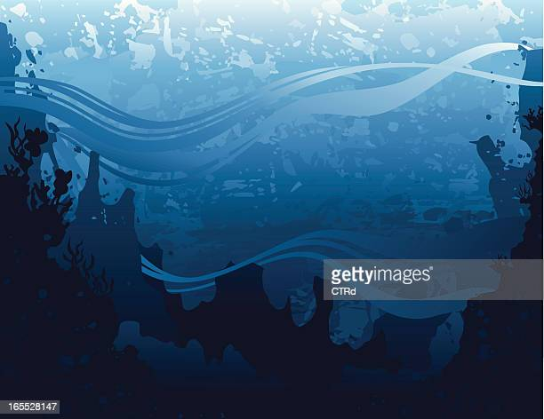 Grunge seascape