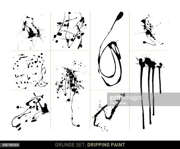 Grunge set: Dripping paint