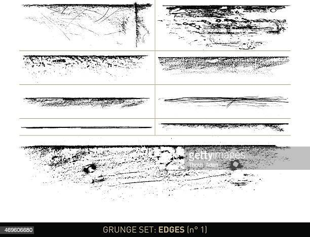 Grunge set: Edge elements in b/w · n° 1