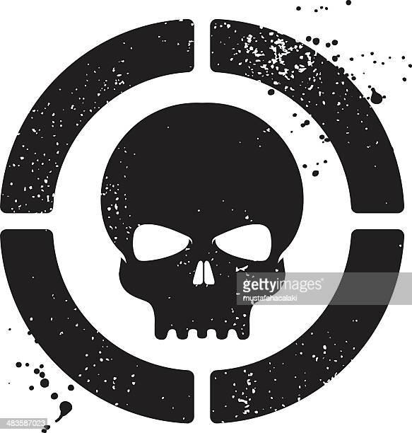 Grunge cráneo símbolo