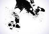 Grunge Soccer is going to shoot vector background