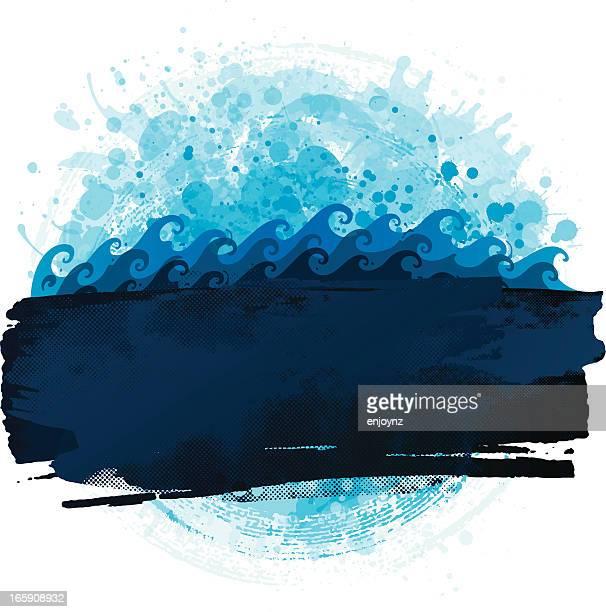 Grunge water background