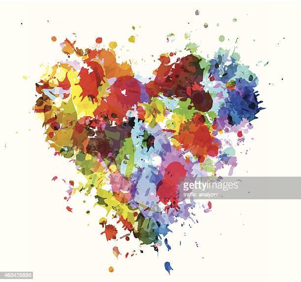 Grunge cuore