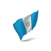 Guatemala flag, vector illustration on a white background