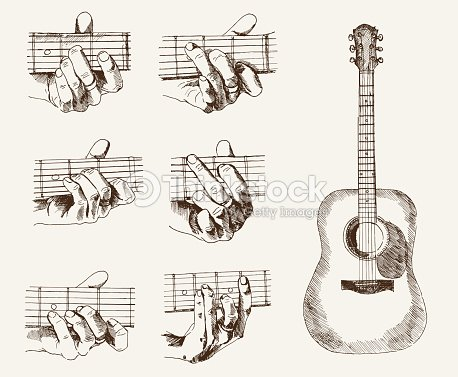 Guitar And Chords Vector Art | Thinkstock