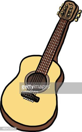 how to draw a guitar cartoon