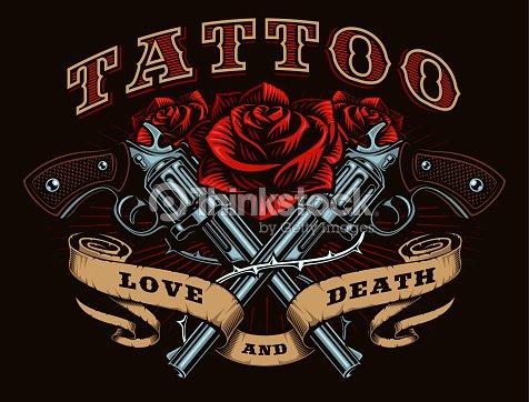Guns And Roses Vector Art Thinkstock