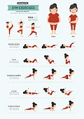 gym exercises,strong core workout. illustration, vector