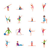In this kids exercise and gymnastic flat icons pack you can see creative and outstanding visuals. By holding this pack you can easily make changes in color, style and design of icons. Hold this pack a