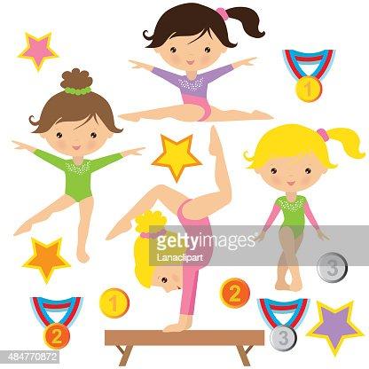 Gymnastics Vector Illustration Vector Art Thinkstock