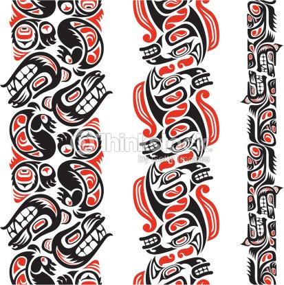 motif de style tatouage haida clipart vectoriel thinkstock. Black Bedroom Furniture Sets. Home Design Ideas