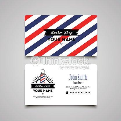 Hair salon barber shop business card design template vector art hair salon barber shop business card design template vector art wajeb Choice Image