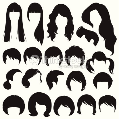 Hair Silhouettes Hairstyle Stock Vector Thinkstock