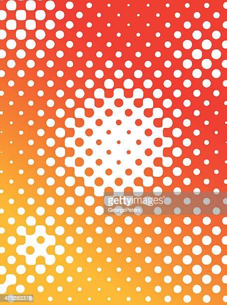 Halfton motif couleur de fond