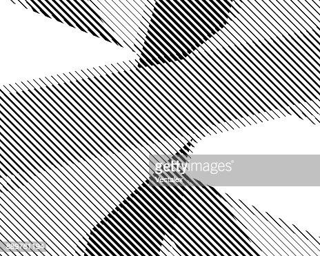 Halftone bitmap lines retro background Black White Pattern Wallpaper Stripes : stock vector