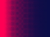 Halftone dots background, Magenta and dark blue color, overlay pattern, vector illustration