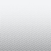 Halftone dots on white background. Vector illustration. Graphic resources halftone black white
