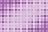 Halftone dotted pattern as a background. Comics pop art style purple dots vector texture for your design