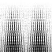 Halftone dotted pattern. Vector halftone dots. Black Dots on white background. Abstract Seamless texture. Retro gradient effect. Vector illustration EPS 10.