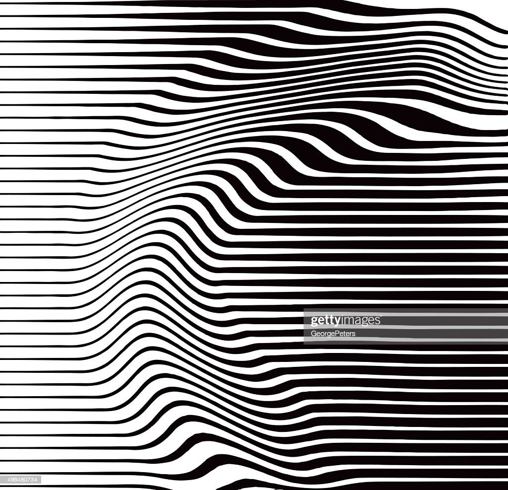 Line Art Vs Halftone : Halftone pattern of rippled and wavy lines vector art