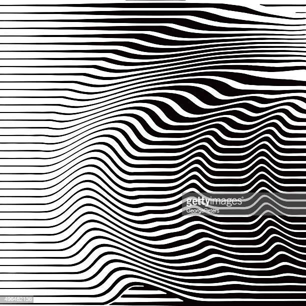 Halftone Pattern of Rippled, Wavy Lines