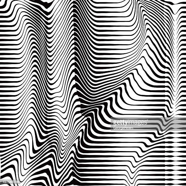 Halftone Pattern of Rippled, Wavy, Striped Lines