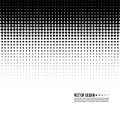 Abstract Halftone Background, vector illustration. Monochrome dots. Comic backdrop gradient. Black and white. Half tone pattern.