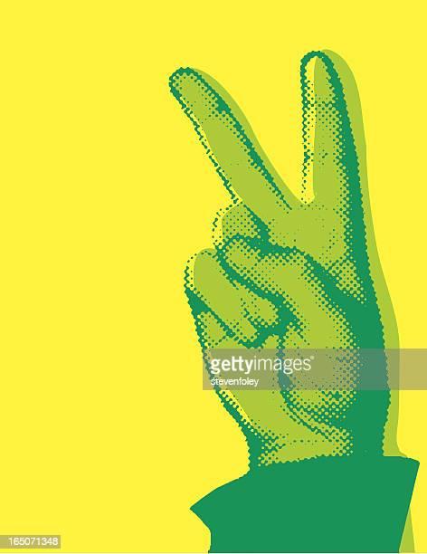 Similgravure signe de la paix