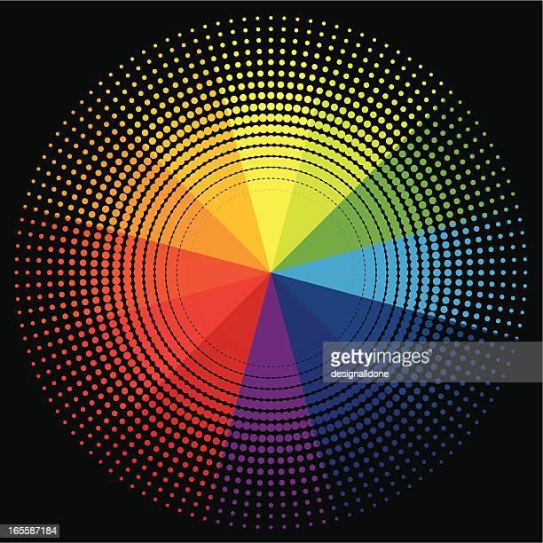 Halftone Style Colour Wheel