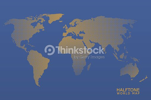 Halftone vector world map vector art thinkstock halftone vector world map vector art gumiabroncs Image collections