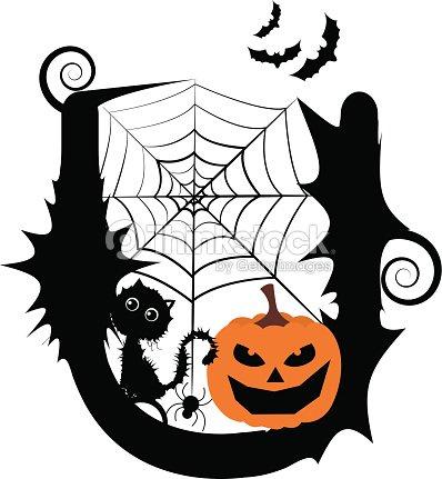 Halloween Alphabet Font Design Vector Art | Thinkstock