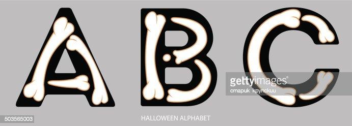 Halloweenalphabet Buchstaben Abc Vektorgrafik | Getty Images