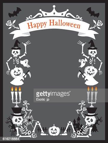Carte d'Halloween  : Clipart vectoriel