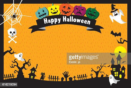 Carte d'Halloween  : Clipart vectoriel