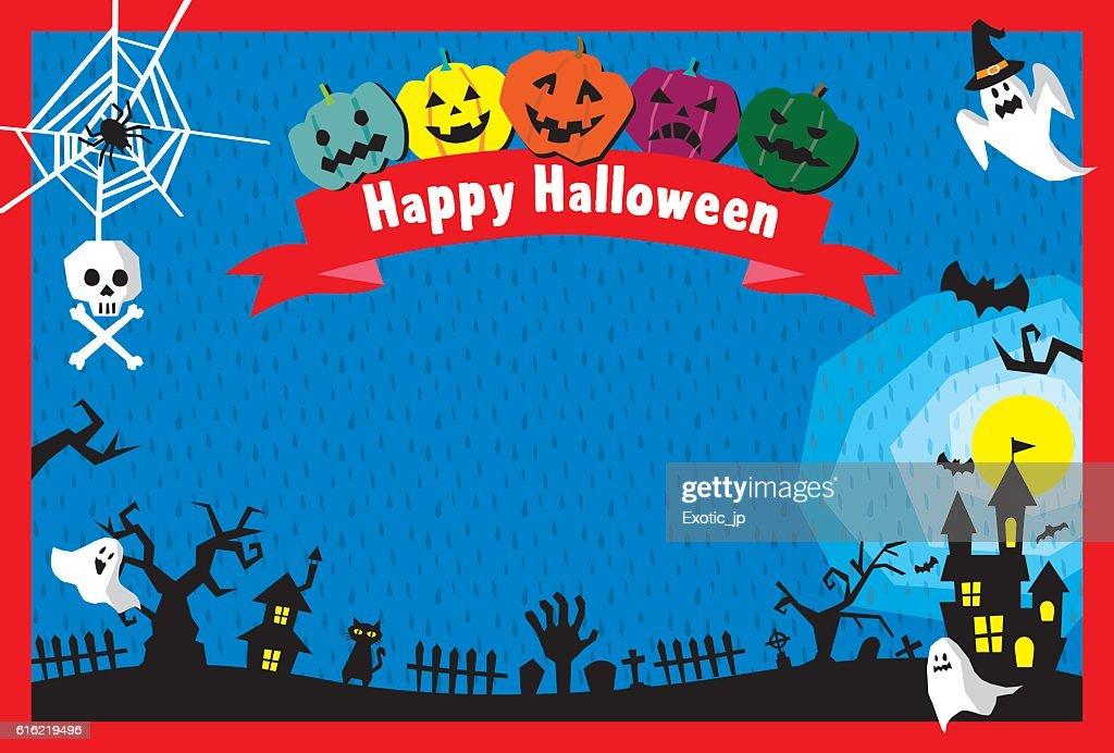 Halloween card : Vector Art