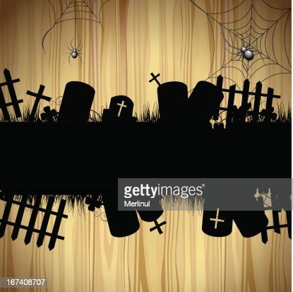 Halloween cemetery : Vector Art