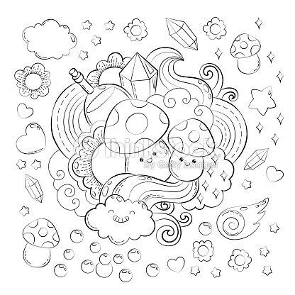 Concepto De Halloween Historieta Dibujada Mano Doodle Ilustración ...