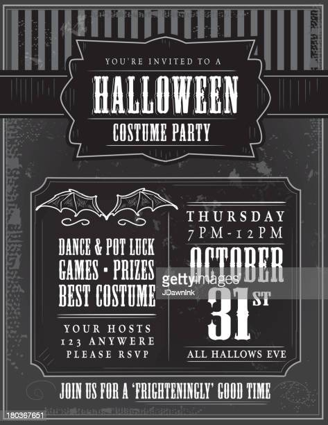 Halloween costume party invitation design template