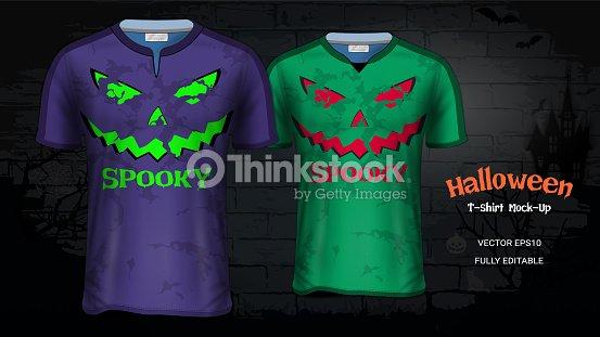 Halloween Traje Camisetas Maqueta De Plantillas Fútbol Jersey ... 5db81c4323521