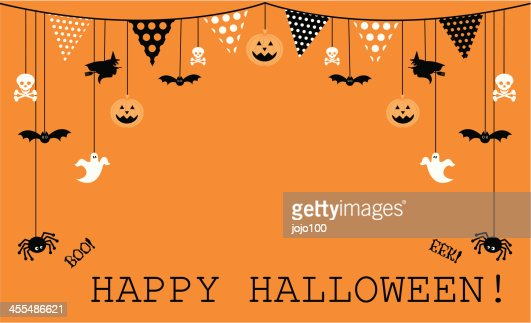 halloween design with bunting and icons vector art getty images - Halloween Design