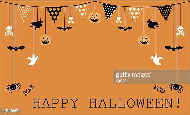 Halloween Design with Bunting and Icons