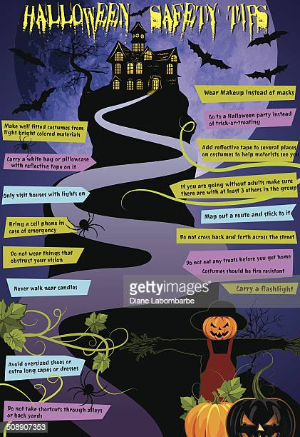 Halloween Haunted House Safety Tips Infographic