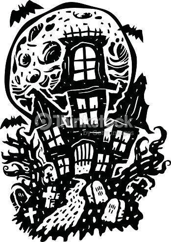 Halloween Haunted House Vector Art | Thinkstock