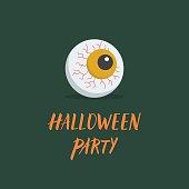 Happy halloween party vector icon